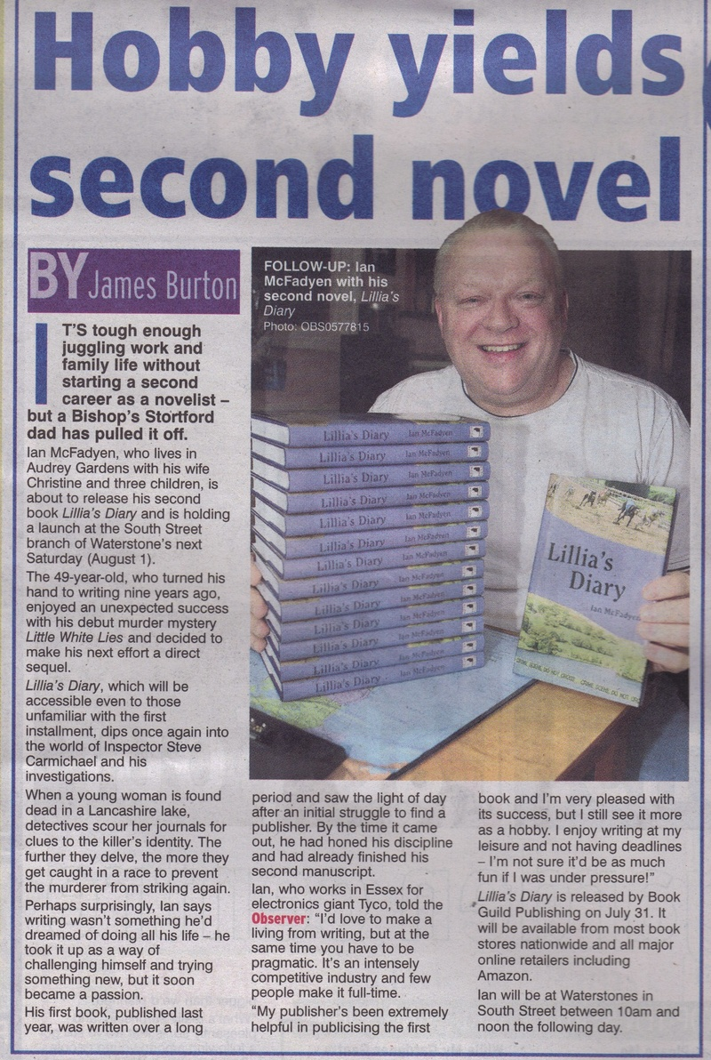 Herts&Essex Observer article 23rd July '09